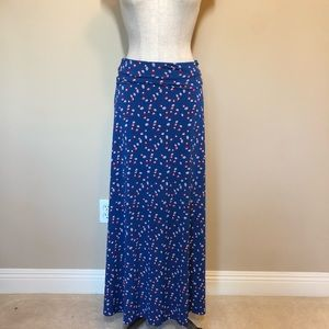 Lularoe maxi skirt pattered print